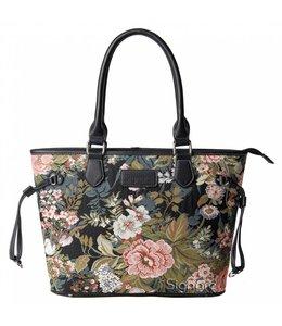 Britische Country Handtasche mit opulentem Blumenmuster