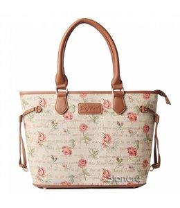 Britische Tasche mit zartem Rosendesign
