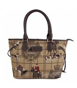 Klassische, britische Handtasche mit Jagdmotiv