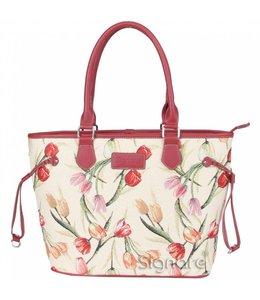 Englische Country Handtasche mit Tulpenmotiv