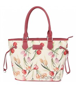 Garten Englische Country Handtasche mit Tulpenmotiv