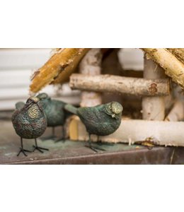 Landhaus Deko-Vogel 3er Set Birdy