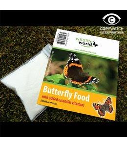 2 Beutel mit Vitamin-Futter und Lockstoff für Schmetterlinge