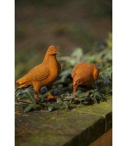 Garten Zwei Tauben, Gartenfiguren im schönen Patina Flair
