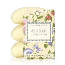 Crabtree & Evelyn Summer Hill 3-fach gemahlene Seife 3 x 100 g