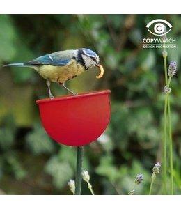 Garten Futterbecher für Gartenvögel rot