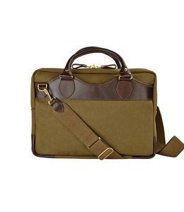 John Chapman Notebooktasche, Deep Olive. Handgefertigt in England