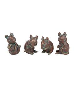 Garten 4 Mäuse Bronzefinish