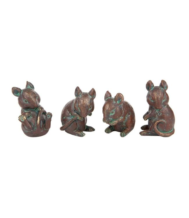 4 Mäuse Bronzefinish
