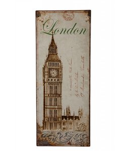 Landhaus Metallschild London