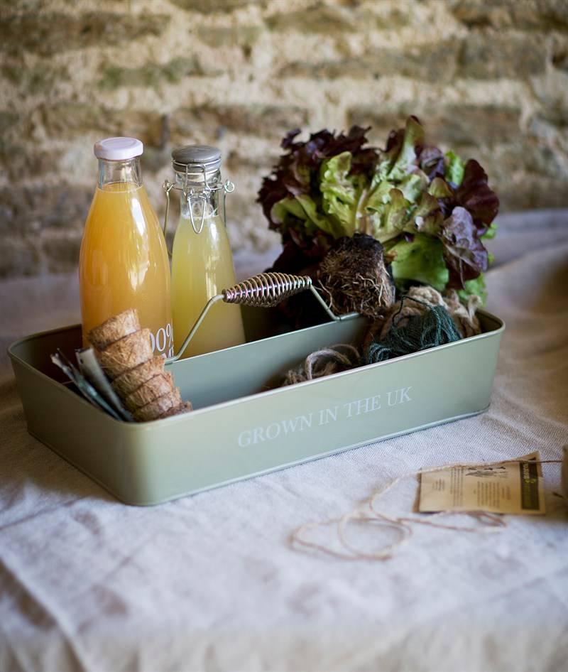 """Gartendekoration Landhausstil Caddy """"Grown in the UK"""""""