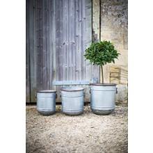 """Gartendekoration Landhausstil Pflanzkübel """"Vintage"""" 3er Set"""