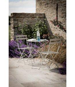 Cottage Interiors Sitzgruppe 1 Gartentisch und 2 Gartenstühle, grau