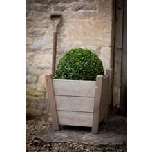 """Gartendekoration Landhausstil Holz Pflanzkübel """"Kingham"""" klein"""