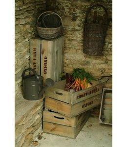 Shabby Chic Gemüsekisten 3er-Set Fichtenholz ♛ Englischer Landhausstil