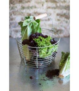 Shabby Chic Gartenkorb für Ihre Salaternte