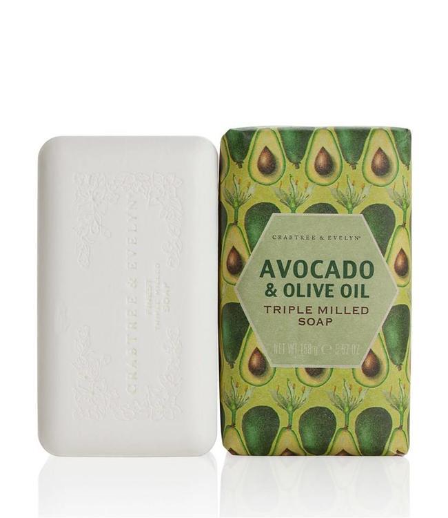 Crabtree & Evelyn Heritage Avocado und Olive Oil gemahlene Seife 158 g