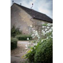Gartendekoration Landhausstil Handgeschmiedeter Rankstab in Spiralform aus Eisen