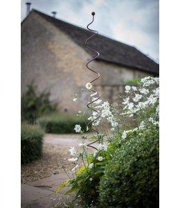 Garten Handgeschmiedeter Rankstab in Spiralform aus Eisen