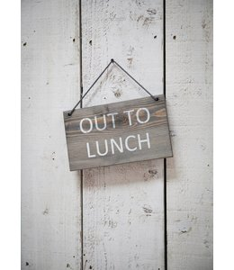 "Garten Gartenschild ""Out to Lunch"""