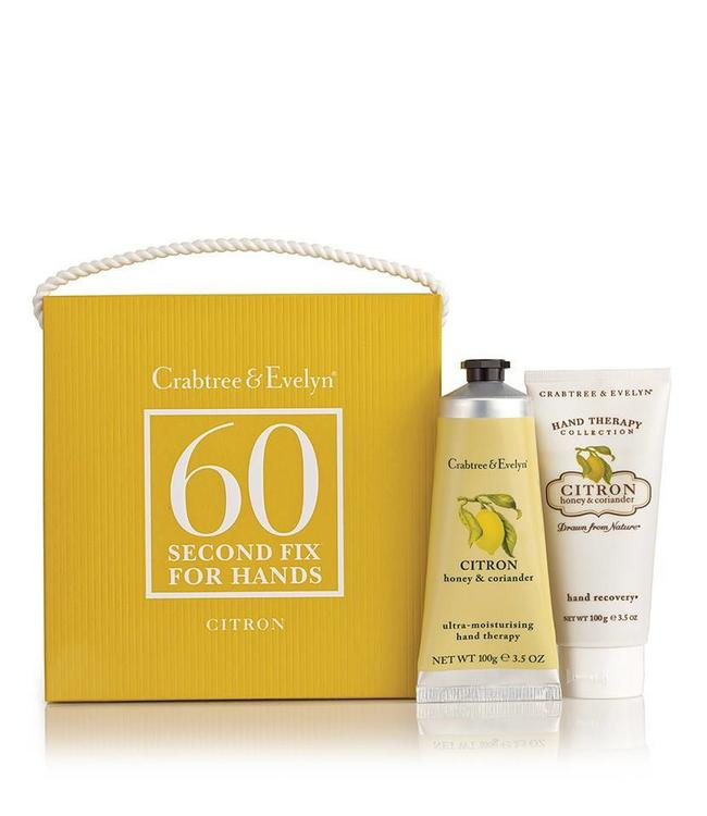 Crabtree & Evelyn Citron, Honey & Coriander Mini 60 Second Fix Kit Handpflegeset