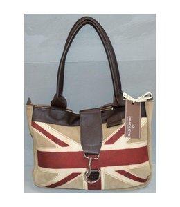 Bradleys Handtasche mit britischer Flagge