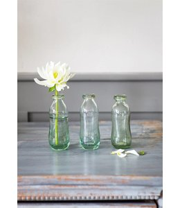 3er Set Blumenvasen Glas
