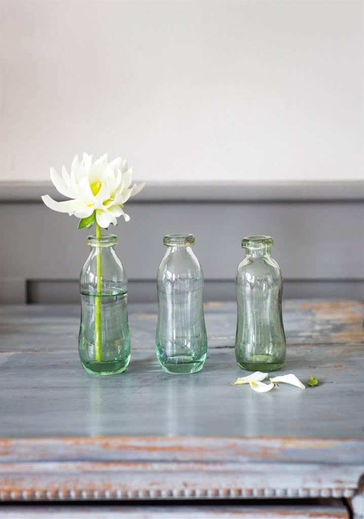 3er set blumenvasen glas villa j hn. Black Bedroom Furniture Sets. Home Design Ideas