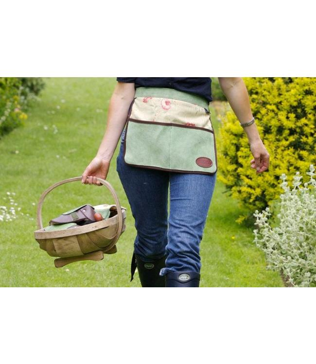 Bradleys Gartenschürze Wildleder, Rose-grün