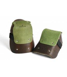 Knieschoner Leder, grün