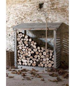 Landhaus Kaminholzunterstand Fichtenholz