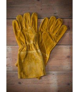 Garten Arbeitshandschuhe Leder, gelb
