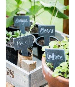 Garten Pflanzetiketten inkl. Kreide zum Beschriften