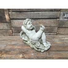 Gartenfiguren aus Stein Träumender Engel - Elegante Steinfigur für den Landhaus Garten