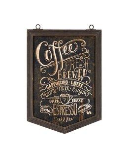 Rustikales Kaffee-Schild im Landhaus-Design
