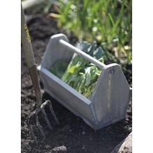 Gartendekoration Landhausstil Rustikale Tragebox aus Fichtenholz für vielfältige Einsatzmöglichkeiten