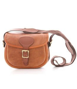 "Bradleys ""Heritage Leather Cartridge Bag"" Tan/Brown"