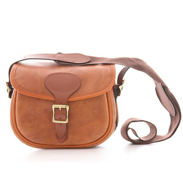 """Bradleys Bradleys """"Heritage Leather Cartridge Bag"""" Tan/Brown"""