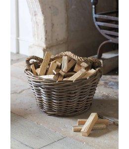 Korb für Kamin-Anfeuerholz