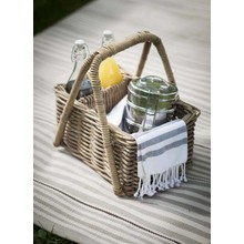 Gartendekoration Landhausstil Picknickkorb Rattan