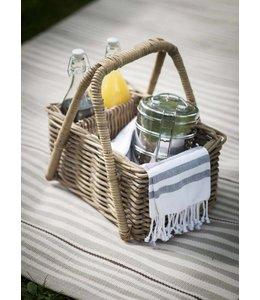 Garten Picknickkorb Rattan