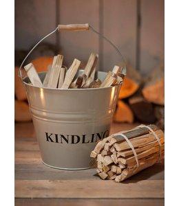 Eimer für Kamin-Anfeuerholz