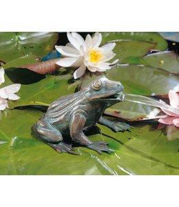 Bronzefiguren Landhausstil Frosch Bronze