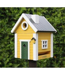 """Wildlife Garden Vogelfutterhaus & Nistkasten """"Schwedisches Landhaus"""" gelb"""