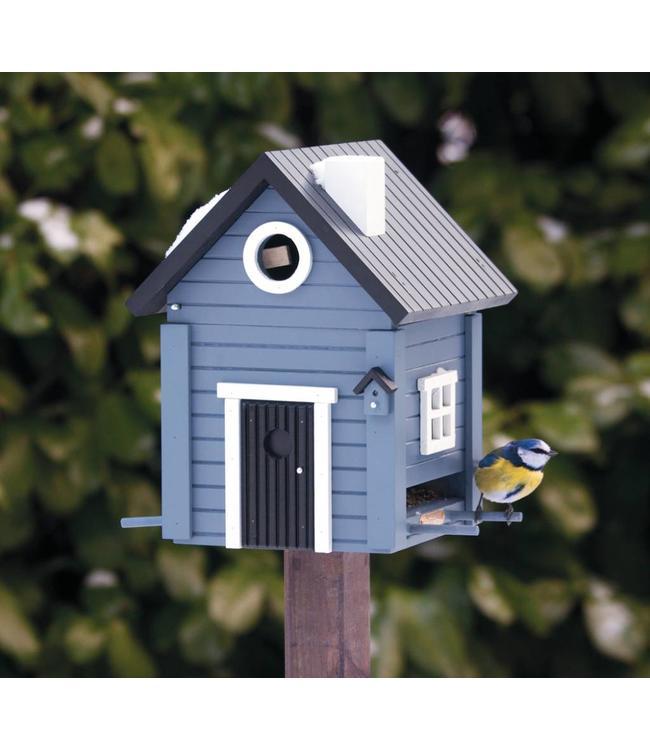 Multiholk Vogelhaus Blaues Haus