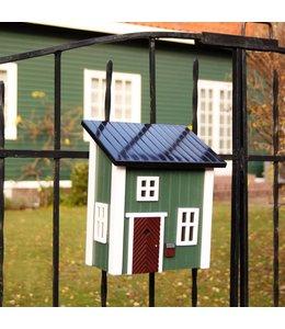 Garten Holz-Briefkasten grün