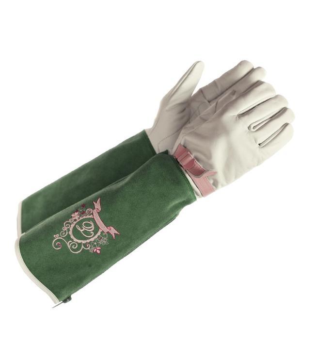 Elegante Eglantine Rosenhandschuhe Wildleder