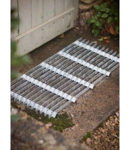 Landhaus Fußabstreifer aus verzinktem Metall
