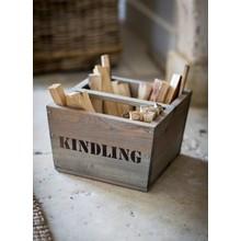 Villa Jähn Landhaus Kollektion Rustikale Holzbox für Kaminanzünder