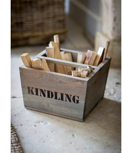 """Holzbox Landhaus """"Kindling"""" Fichtenholz"""